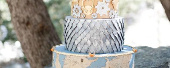 Wedding cake for a sci-fi/fantasy wedding