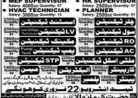 Abroad Jobs 2021 Latest in Saudi Arabia as Technicians / Supervisor / Mason & Others