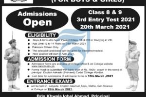 Captain Aakash Cadet College Mardan Admissions Open 2021