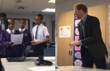 Watch Prince Henry Bop to the Rap Bars of Kids at Nottingham Academy [VIDEO]