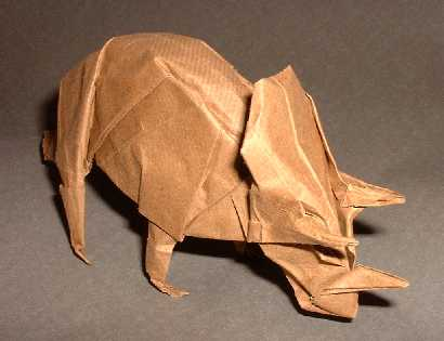 how to make an origami triceratops tutorial origami handmade