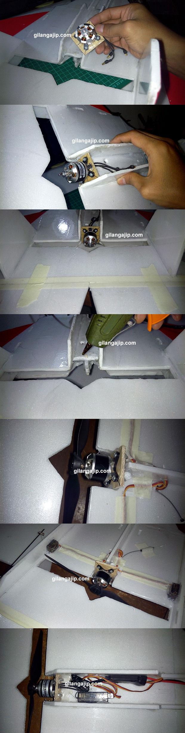 Cara Memasang Motor Brusless ke pesawat RC Gabus