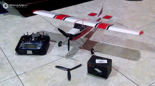 Jual Pesawat RC Gabus Homemade Mini Cessna