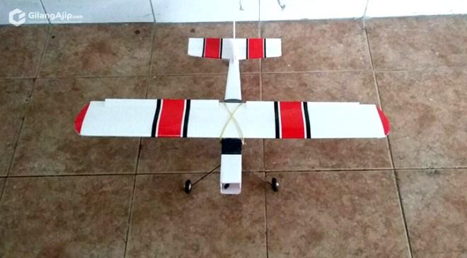 Mini Cessna Homemade Pesawat Remote RC Gabus