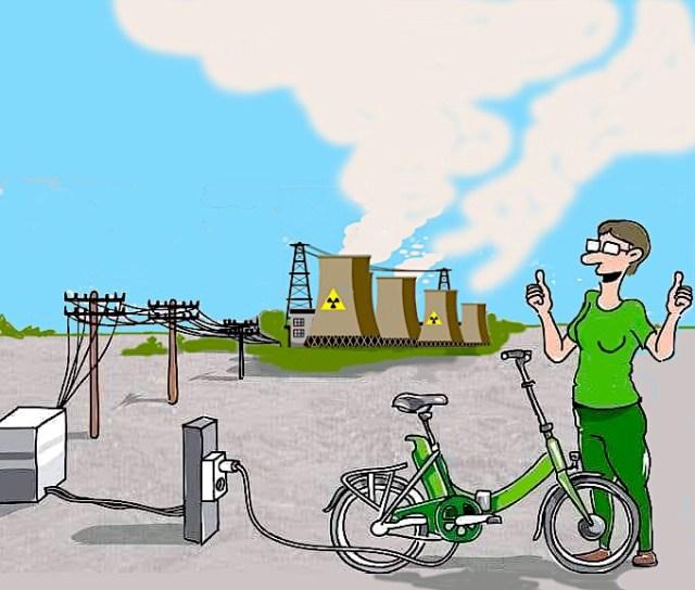 Le p'tit vélo électro-nucléaire.   gilblog   Jean-Pierre Gilbert