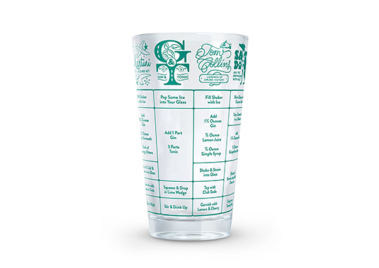 Fred GOOD MEASURE Gin Cocktail Recipe Glass