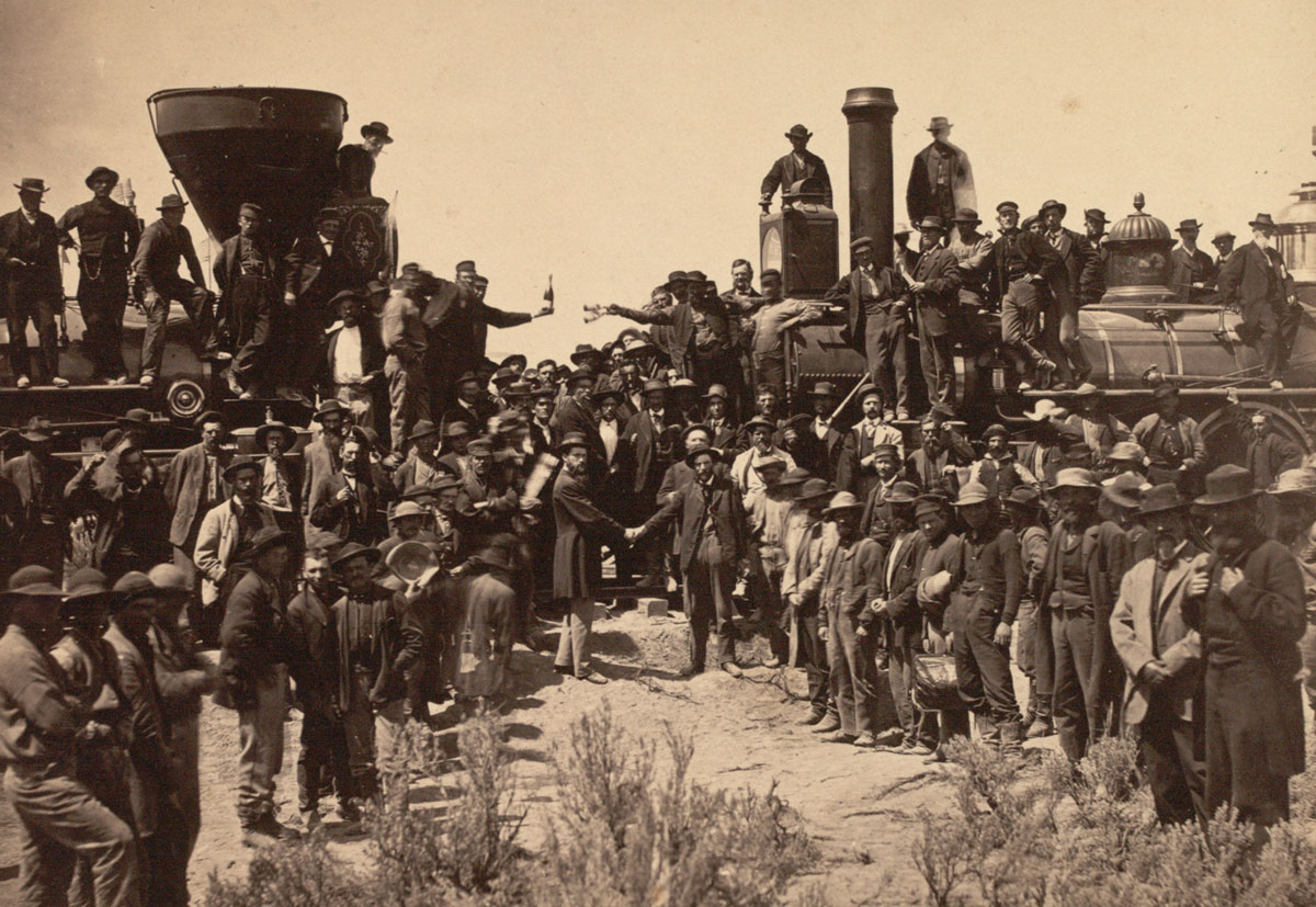 Official Photograph From The Golden Spike Ceremony