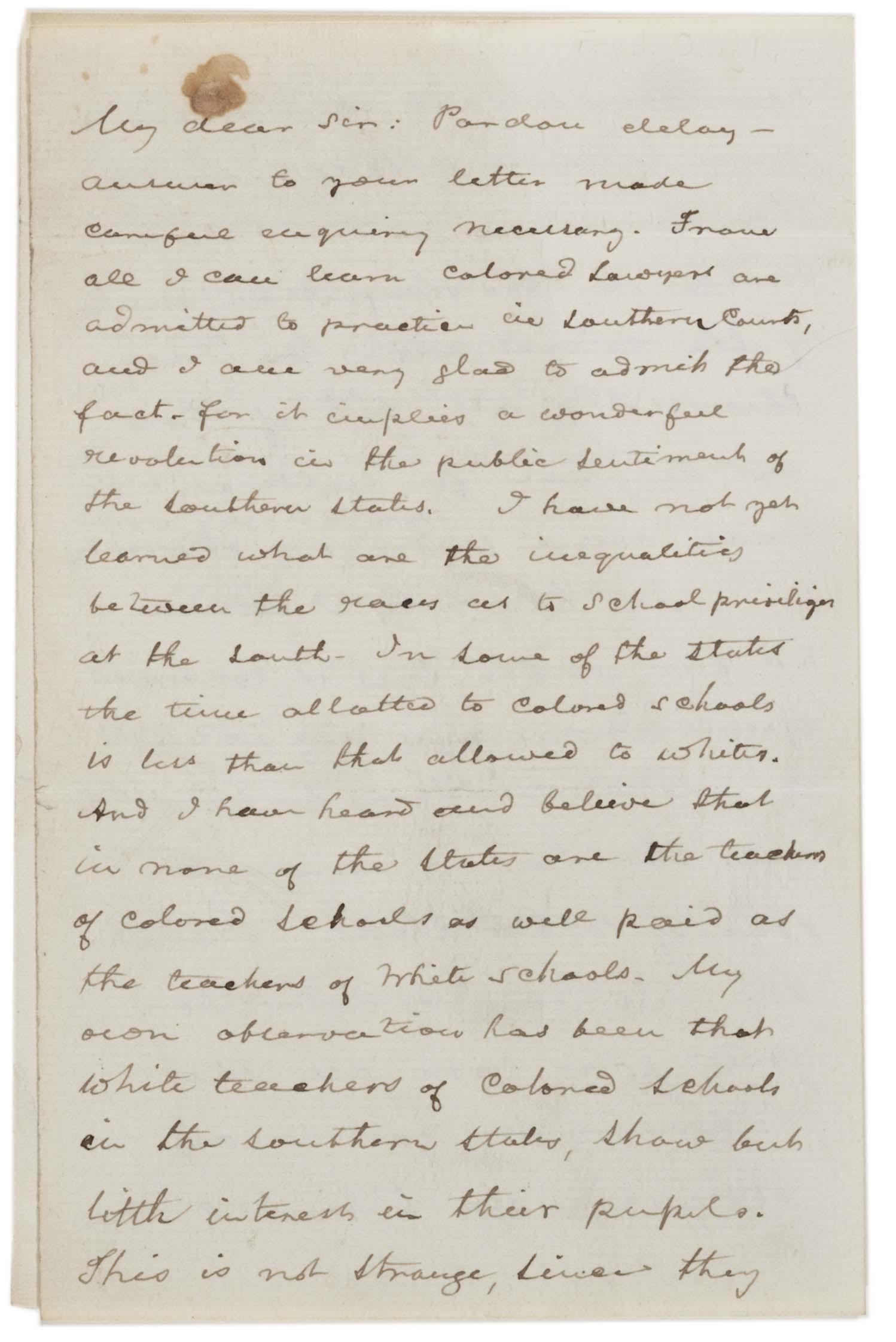 Frederick Dougl Ss Jim Crow 1887 Gilder Lehrm N Stitute Of