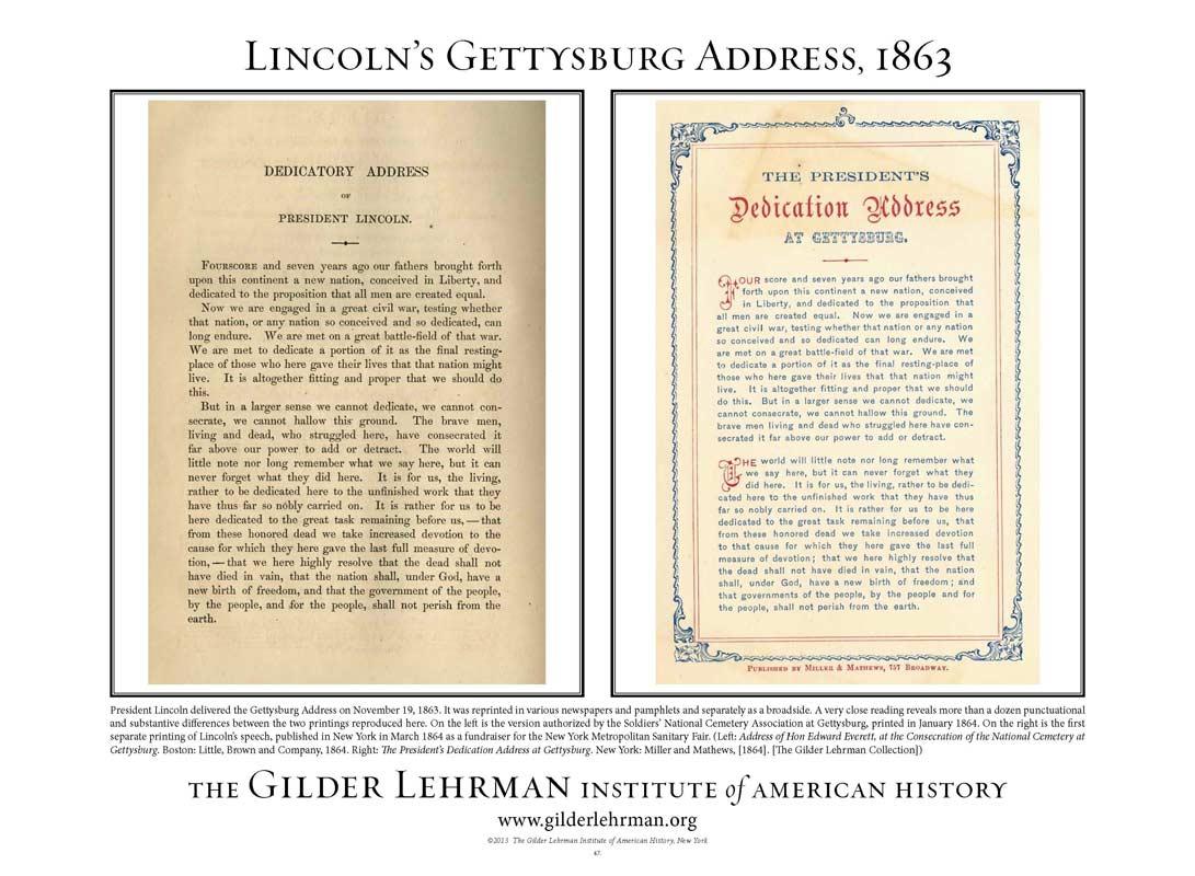 47 Lincoln S Gettysburg Address