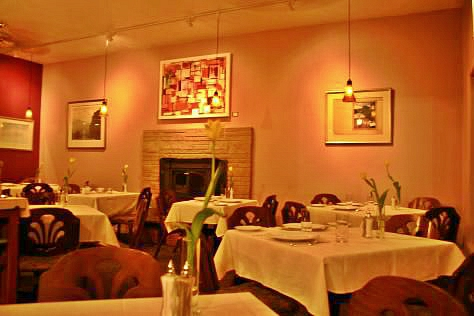 Interior shot of The Marx Brothers Cafe in Anchorage, Alaska.