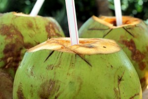 Raw coconut water is extremely hydrating and full of electrolytes