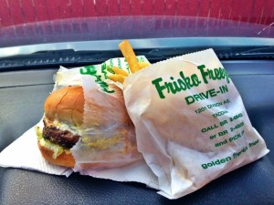 "Some say the Frisko Freeze ""Beefburger"" and Fries was the reason for the dashboard."