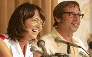 "Emma Stone and Steve Carell in ""Battle of the Sexes."""