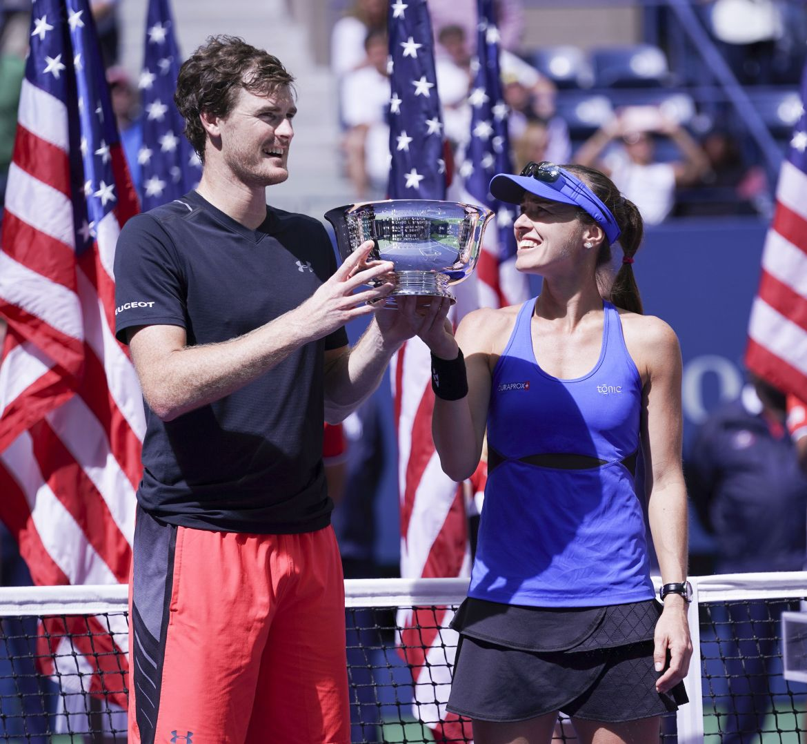 Martina Hingis and Jamie Murray beat Michael Venus and Chan Hao-Ching to win the Mixed Doubles Final at the US Open (Phot: Lev Radin)