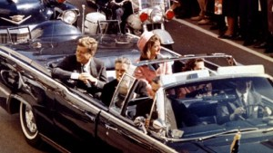 President and Mrs. Kennedy, minutes before shots rang out.