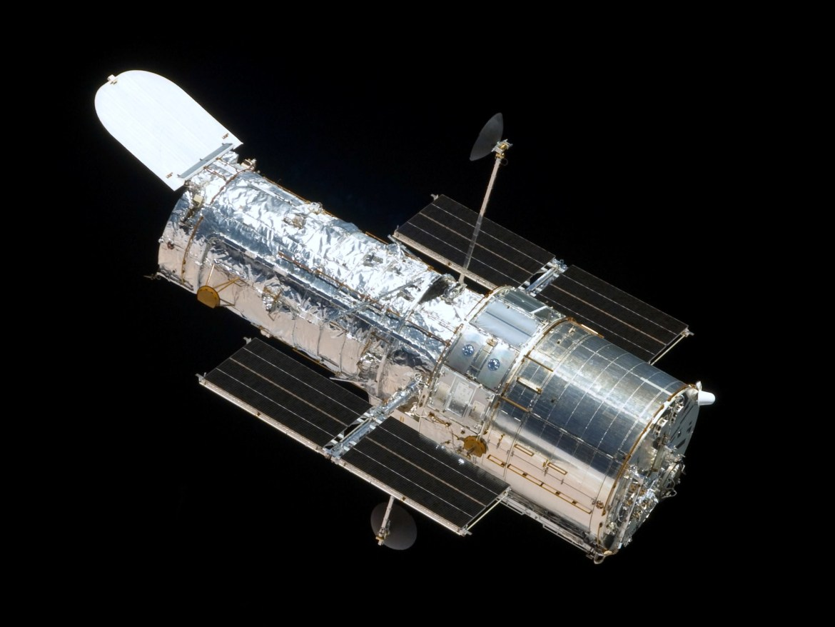 The Hubble Space Telescope was launched in 1990