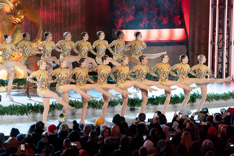 New Yrok, NY - November 28, 2018: The Radio City Rockettes perform during 86th Annual Rockefeller Center Christmas Tree Lighting Ceremony at Rockefeller Center (Photo: Lev Radin)