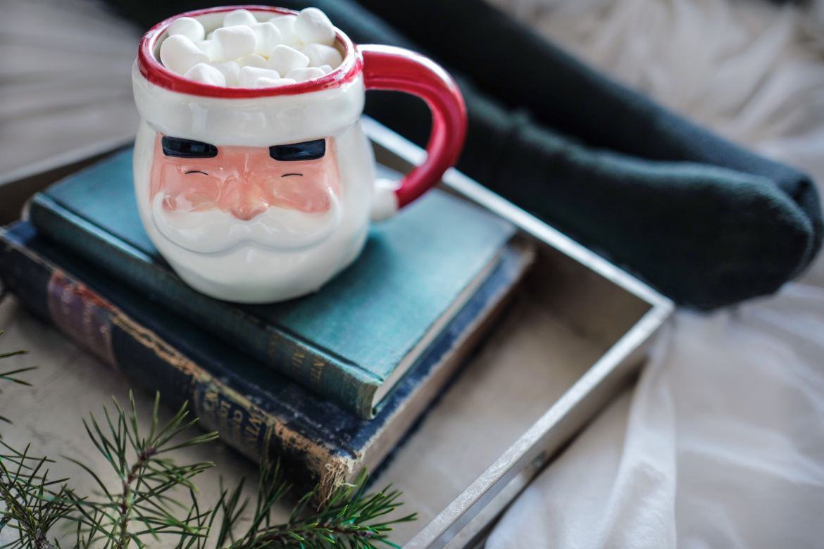 This is the time to use your Santa mugs!