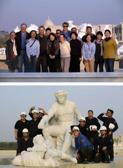 Equipe montage Apollon Chi Mei Janvier 2014