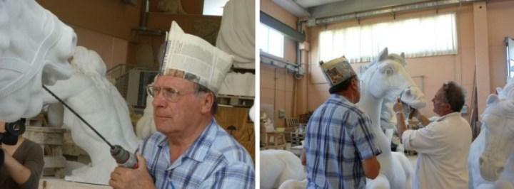 Franco Cervietti et Gilles Perrault Carrare Pietrasanta