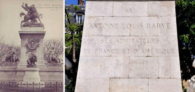 Carte postale de Laurent Marqueste - A ANTOINE LOUIS BARYE SES ADMIRATEURS DE FRANCE ET D'AMERIQUE