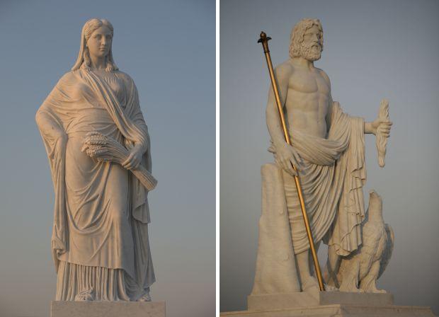 Chi-Mei-Museum-Pont-Romain-avec-le-Panthéon-Grec-sur-piliers