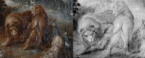 Labo Gilles Perrault IR Lion dessin preparatoire