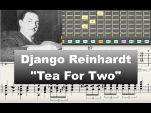 Django Reinhardt - Tea For Two - Guitar transcription - Gilles Rea