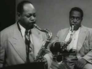 Charlie Parker et Coleman Hawkins