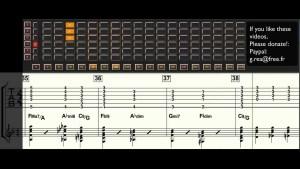 Django Reinhardt - Blues -Guitar transcription - Gilles Rea