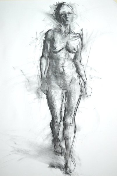 Figure drawing charcoal July 2016