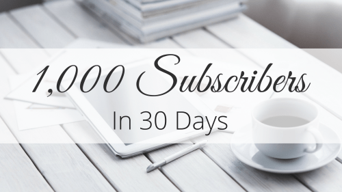 1000 Subscribers in 30 Days
