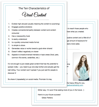 Viral content characteristics