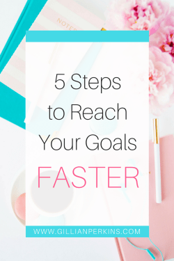 Goals taking FOREVER to reach? Here are 5 steps you can take to achieve success FASTER.