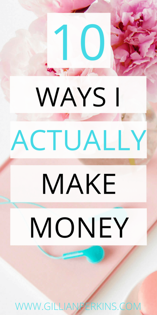Want some real, honest, practical ideas for how to make money? Click to read this blog post about the ten different ways that I actually make money, and find out exactly how I got multiple streams of income.