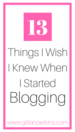 When I started my first blog 10 years ago, I made so many mistakes that kept it from EVER becoming a successful blog. Here are 13 things I wish I knew when I started blogging that are the secrets to my blogging success. (From www.gilllianperkins.com)