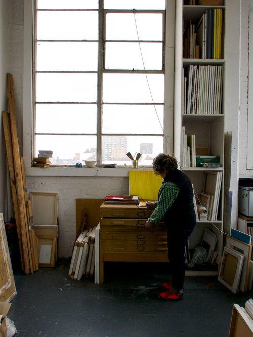 Gill Ord in her studio 2019