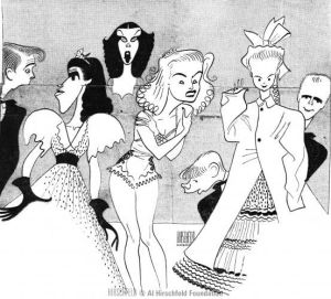 Gil gets characterized by the legendary Al Hirschfeld for his work on Best Foot Forward