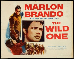 Film Poster for the Wild One with Marlon Brando. And even Lee Marvin does not get proper poster credit.