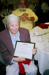 Gil receives an award from REPS - Radio Enthusiasts of Puget Sound.