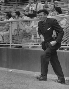 Gil Stratton Jr. umpiring a baseball game. (Photo by Loomis Dean/The LIFE Picture Collection/Getty Images)