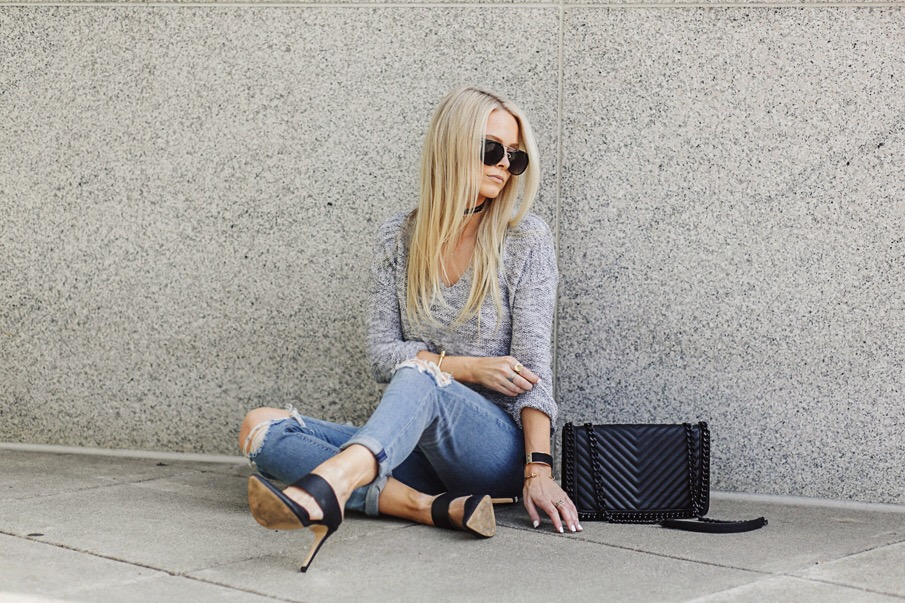 girlfriend jeans, mules