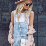 overalls and denim heels