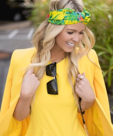 IT WAS ALL YELLOW: YELLOW BLAZER OUTFIT.