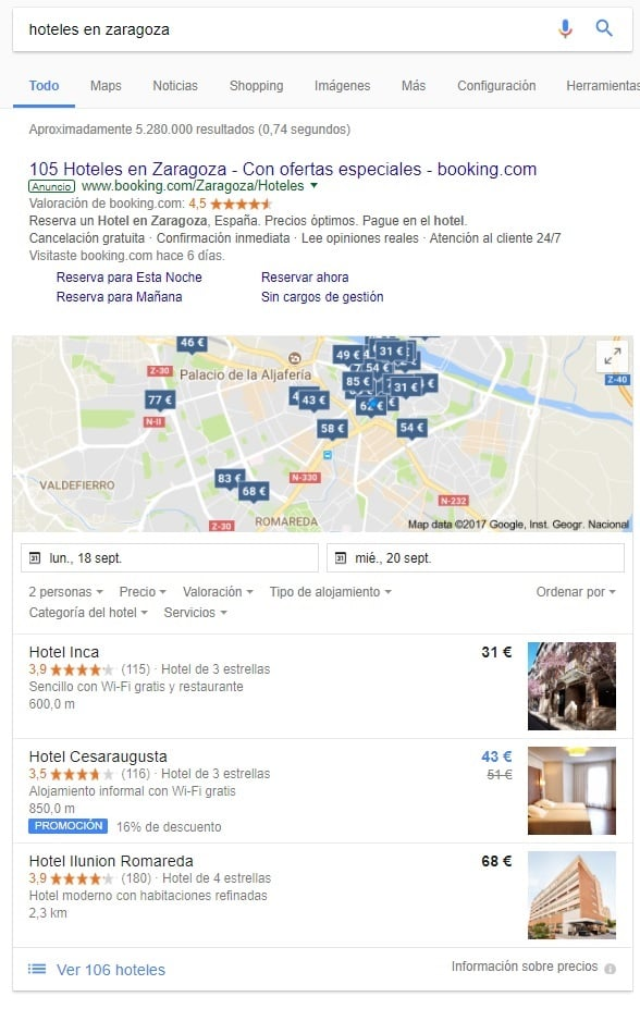 Google Hotel Ads Commission Program, análisis en ...