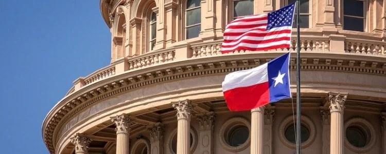 Texas and American Flag