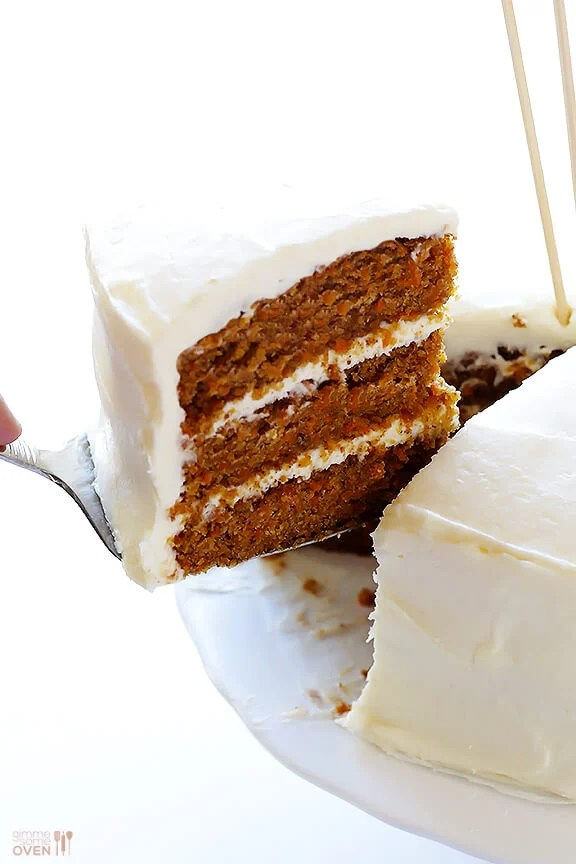 Vegan Gluten-Free Carrot Cake -- made with a heavenly (vegan)