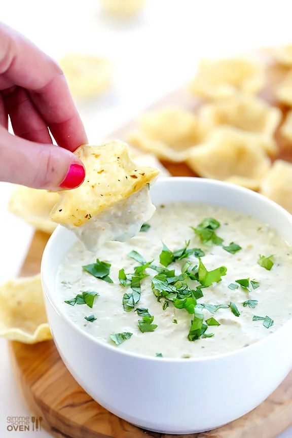 2-Ingredient Queso Dip -- ready to go in 5 minutes, and so irresistibly good!   gimmesomeoven.com #appetizer #gameday