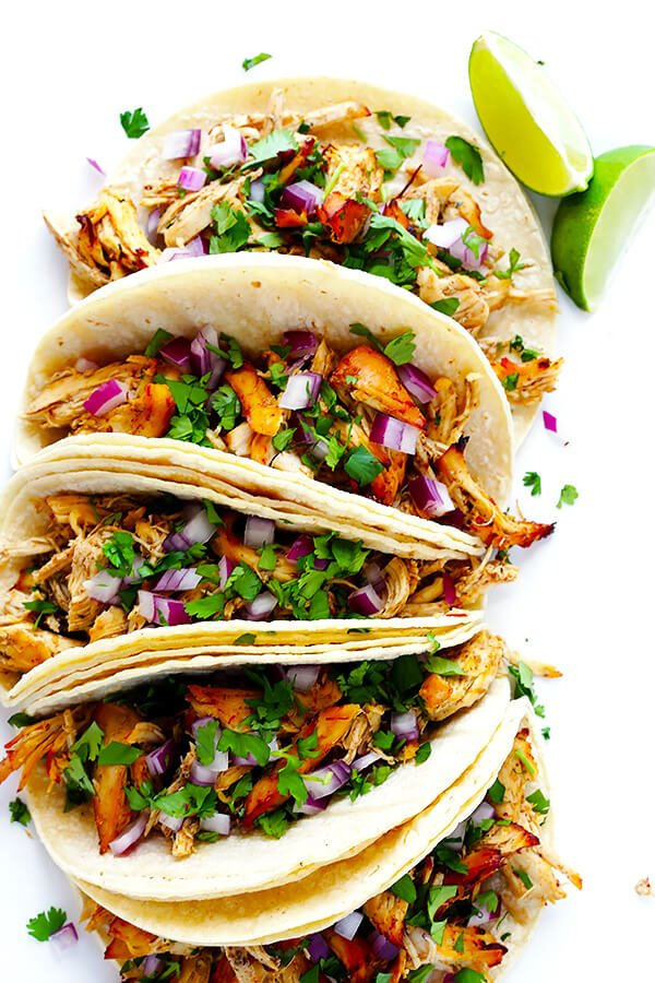 Slow Cooker Crispy Chicken Carnitas Recipe | Gimme Some Oven