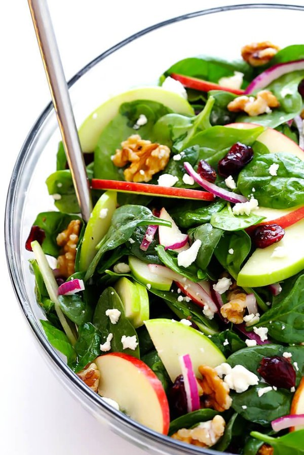 My Favorite Apple Spinach Salad | Gimme Some Oven